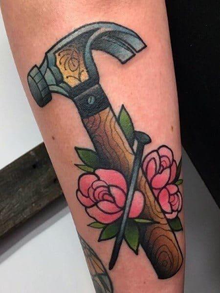 Mens tattoo designs carpenter themed