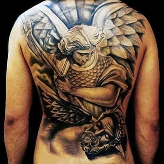 Mens tribal back tattoos