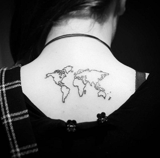Minimal map tattoo 1