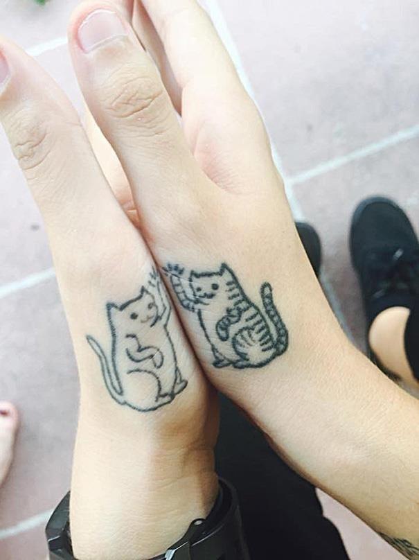 Minimalistic cat tattoo 53  605