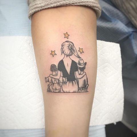 Mom tattoo toy story family 1583524806