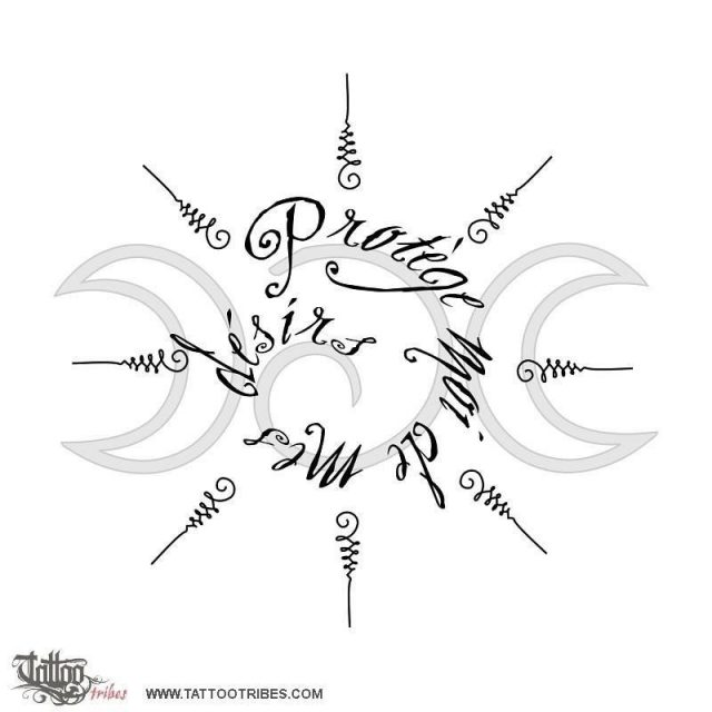 Moon goddess protection tattoo