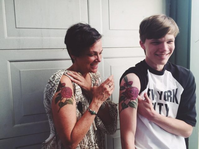 Mother and son tattoos 2