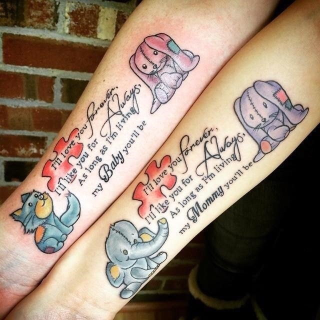 Mother daughter tattoo 10
