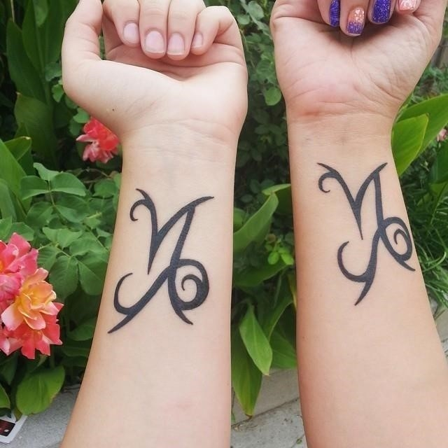 Mother daughter tattoo 23