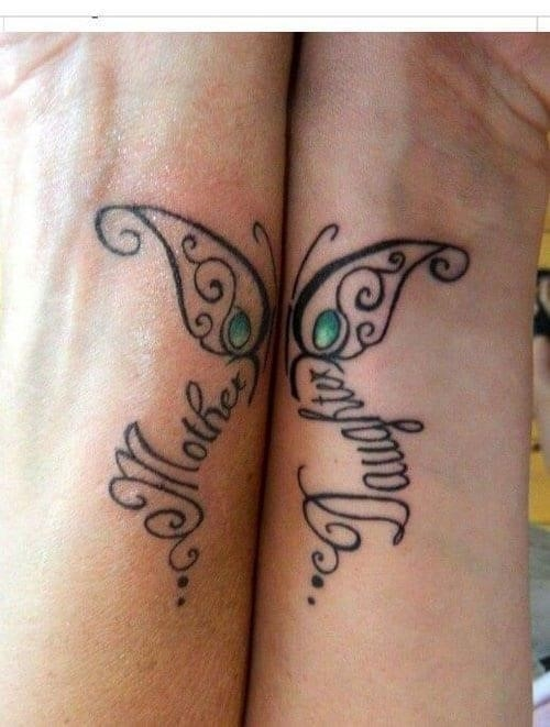 Mother daughter tattoos 16