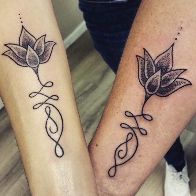 Mother daughter tattoos  40