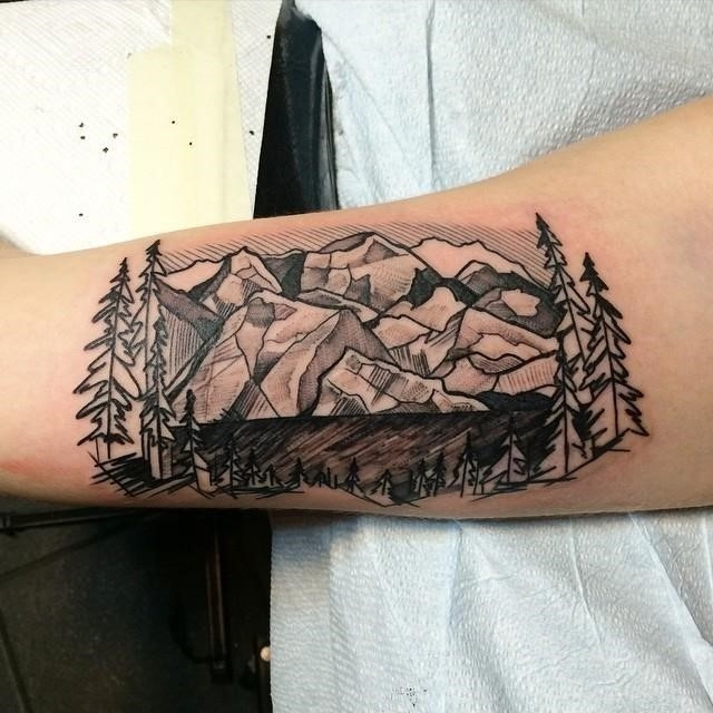 Mountain tattoo 16