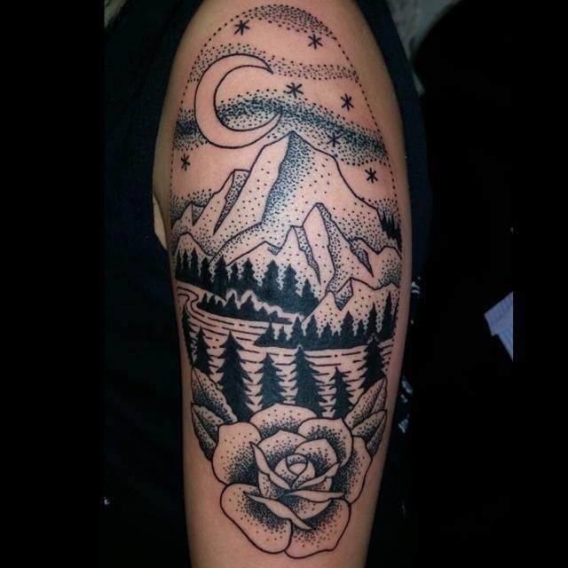 Mountain tattoo 20