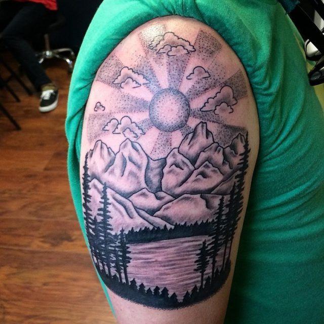 Mountain tattoo 46