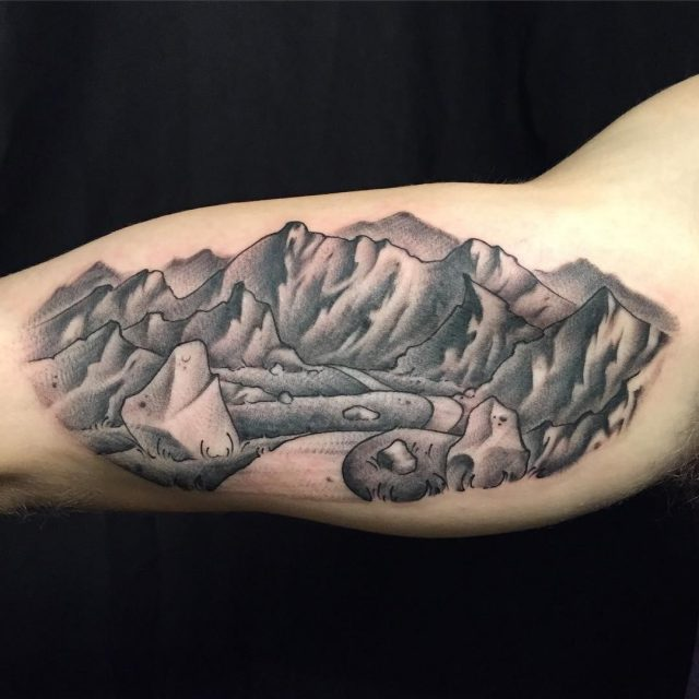 Mountain tattoo 53