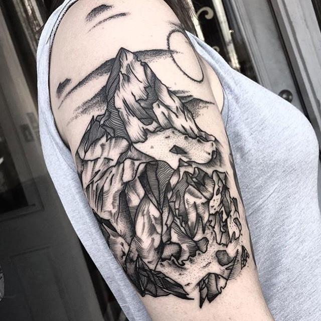 Mountain tattoo 58