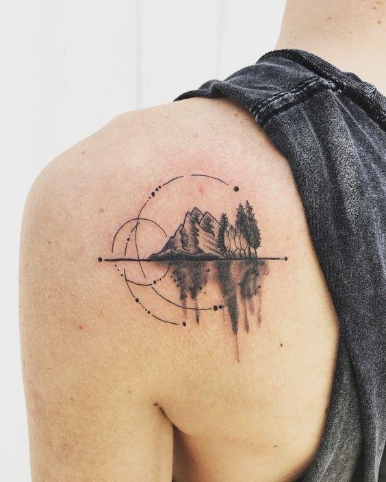 Mountain tattoo ideas 21