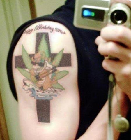 Multitasking bowser tattoo