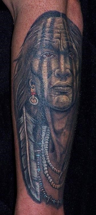 Native american arm tattoo