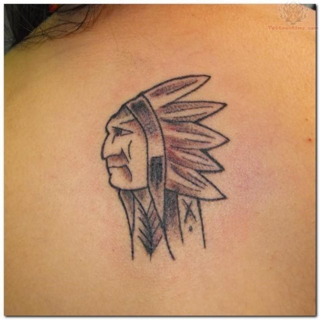 Native american small tattoo