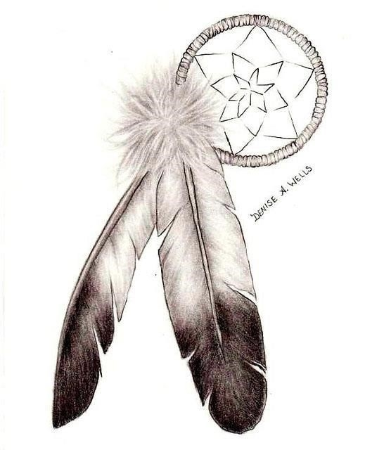 Native tattoo eagle feathers