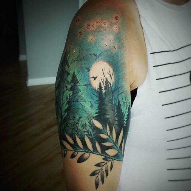 Nature tattoo 14
