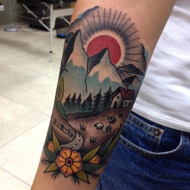 Nature tattoo 44