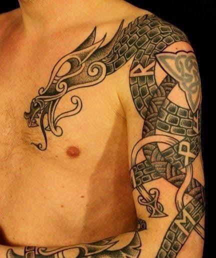 Norwegian viking tattoos for males