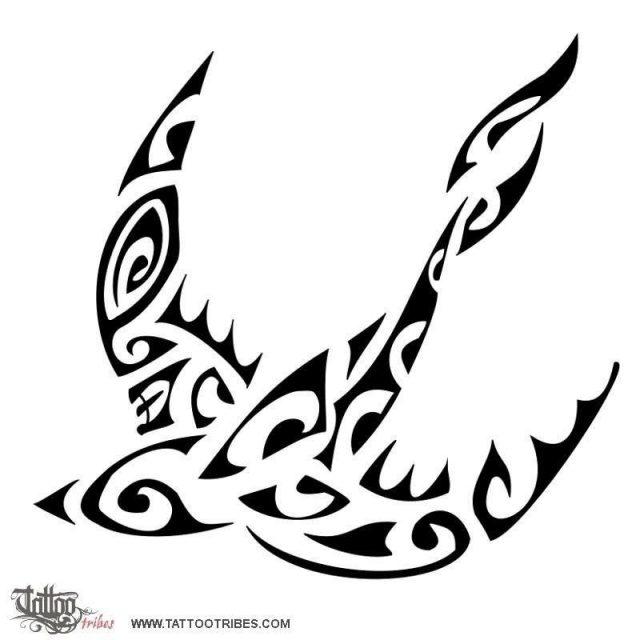 Oceanic swallow tattoo