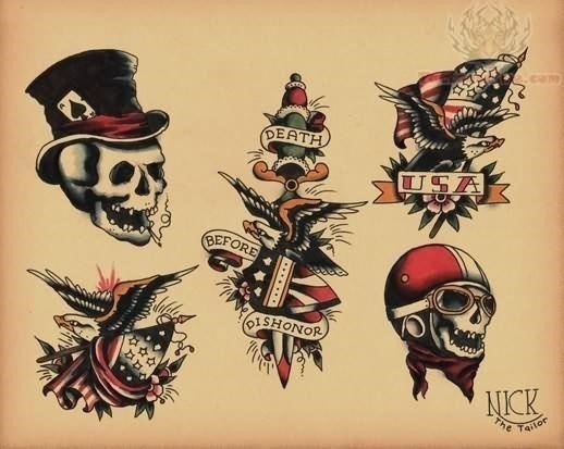 Old school tattoo sample picture