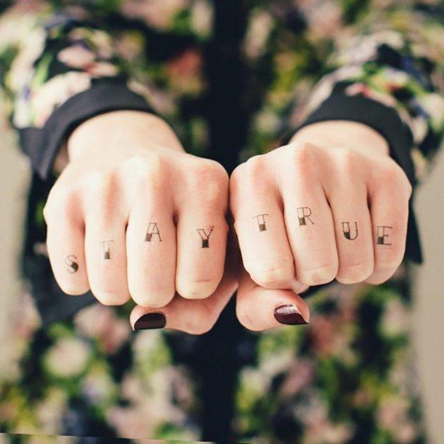 Original 22 knuckle temporary tattoos