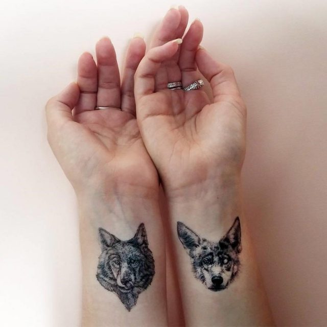 Original wolf pack temporary tattoos