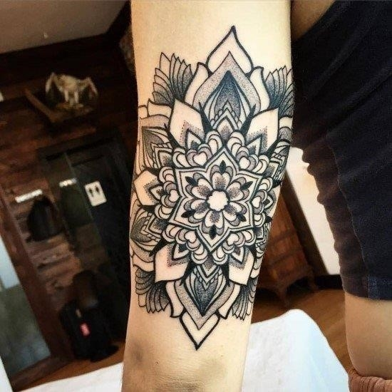 Ornamental mandala tattoo by melow perez
