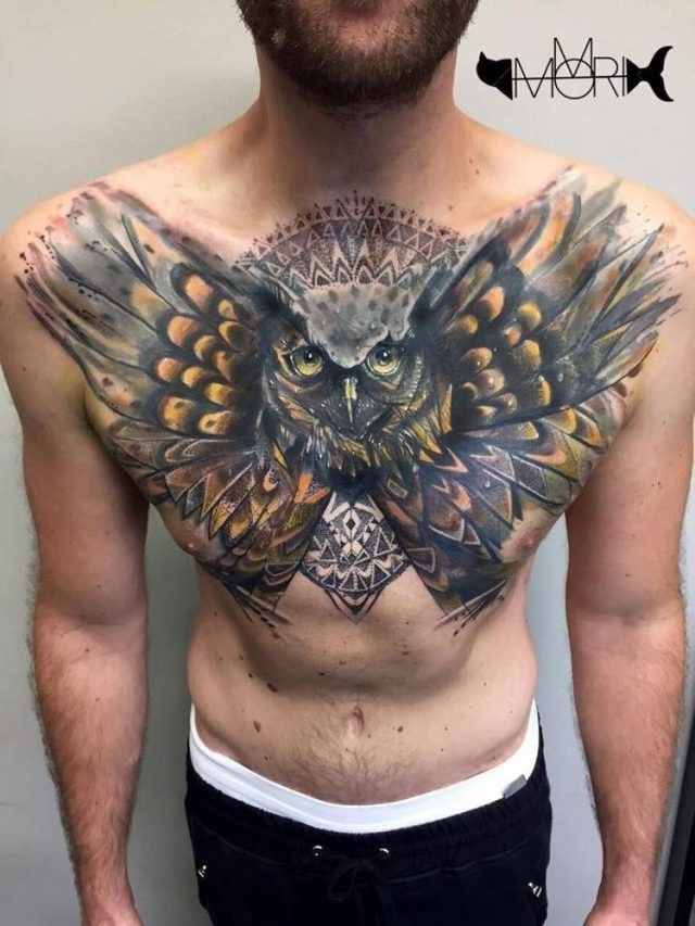 Owl chest cover up
