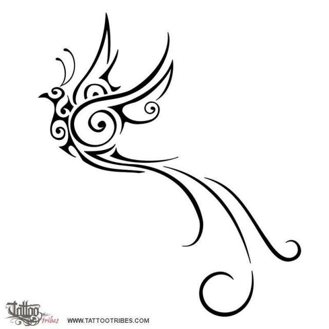 Paradise bird tattoo