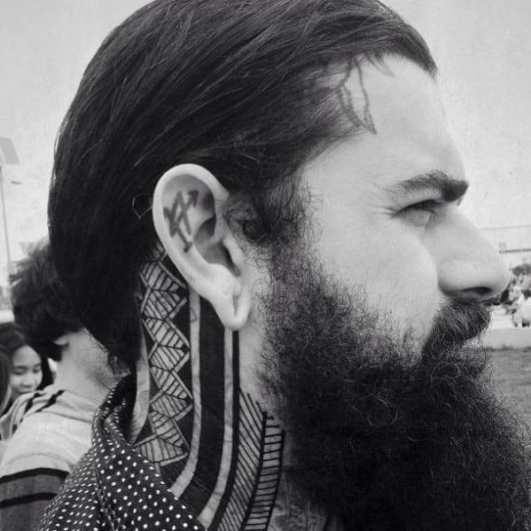 Pattern tribal neck guys tattoo ideas