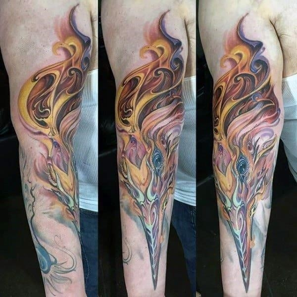 Phoenix bird tattoo designs for men