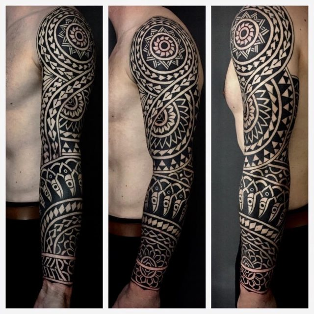 Polynesian style tattoo luke jinks 01