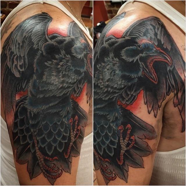 Raven tattoo 10