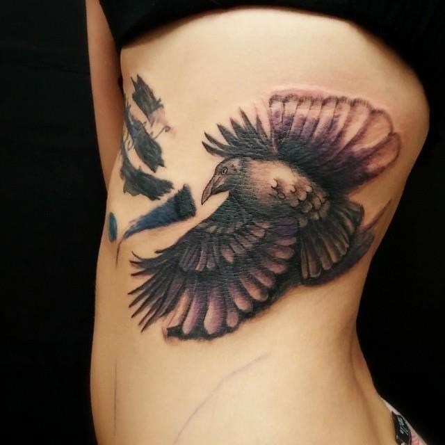 Raven tattoo 14