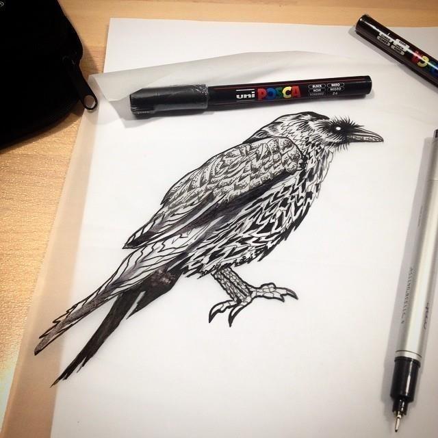 Raven tattoo 17