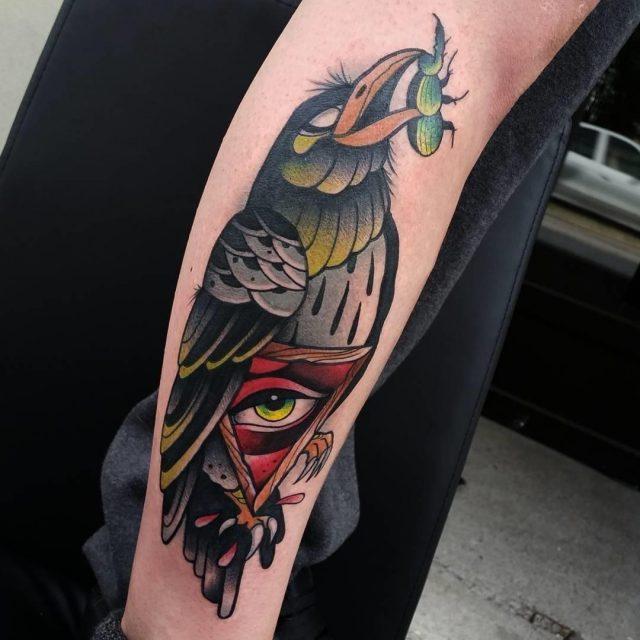 Raven tattoo 19