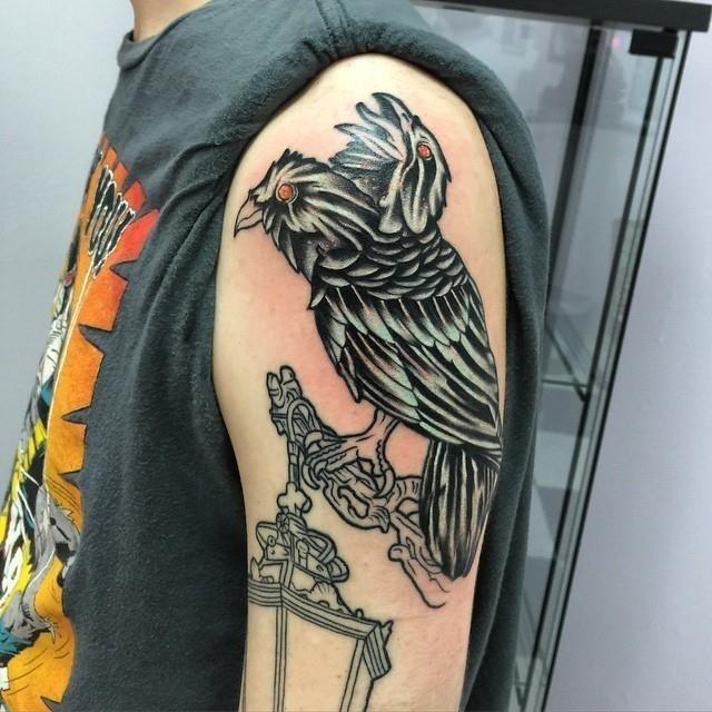 Raven tattoo 22