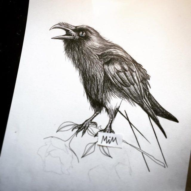 Raven tattoo 24