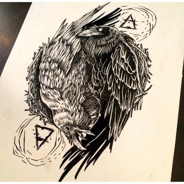 Raven tattoo 25