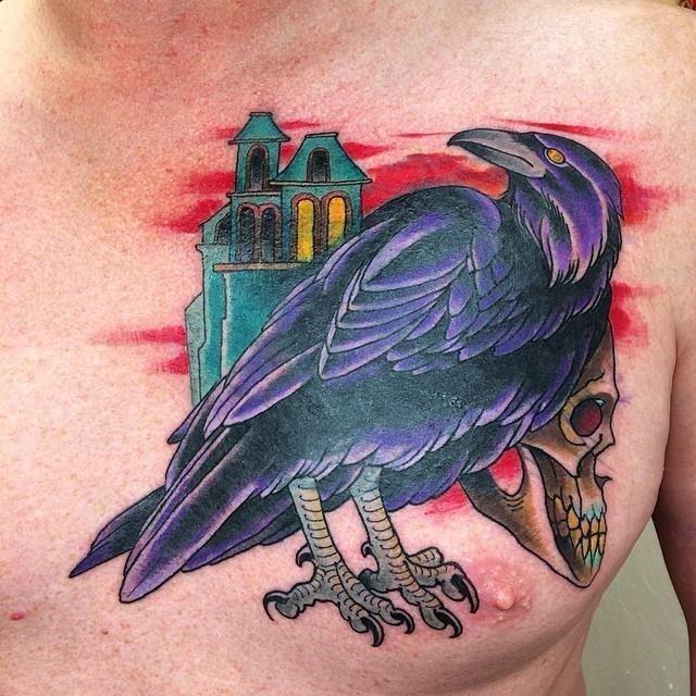Raven tattoo 44