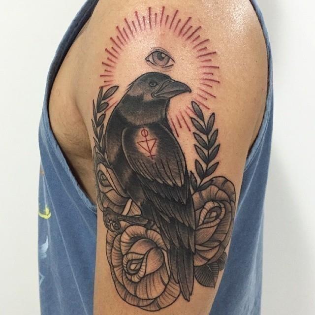 Raven tattoo 8