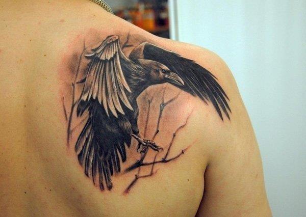 Raven tattoos 17