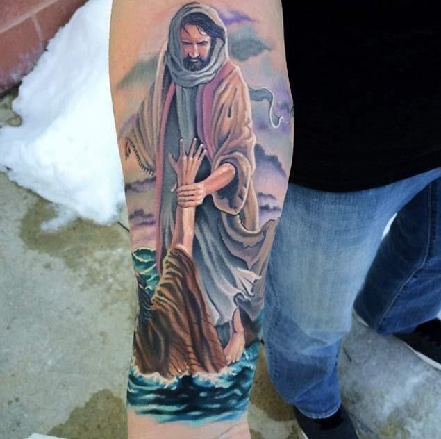Religious jesus tattoo