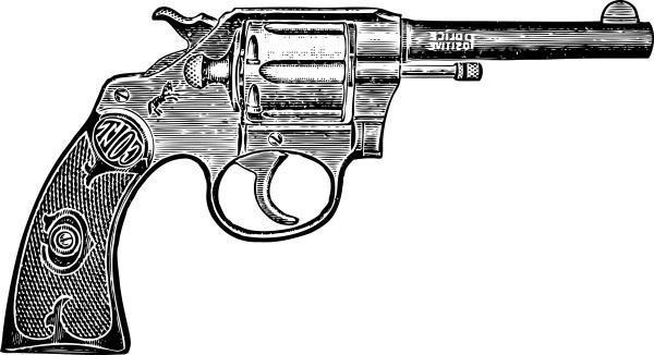 Revolver vintage temporary tattoo