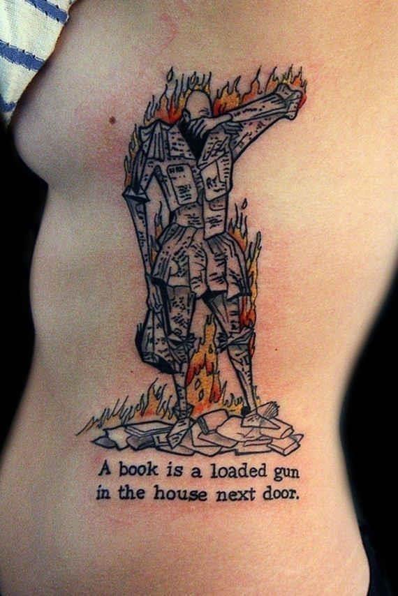Rib script tattoos 16