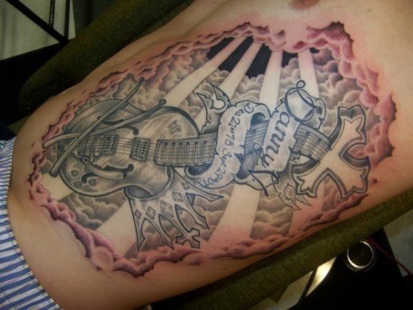 Rip rib tattoo