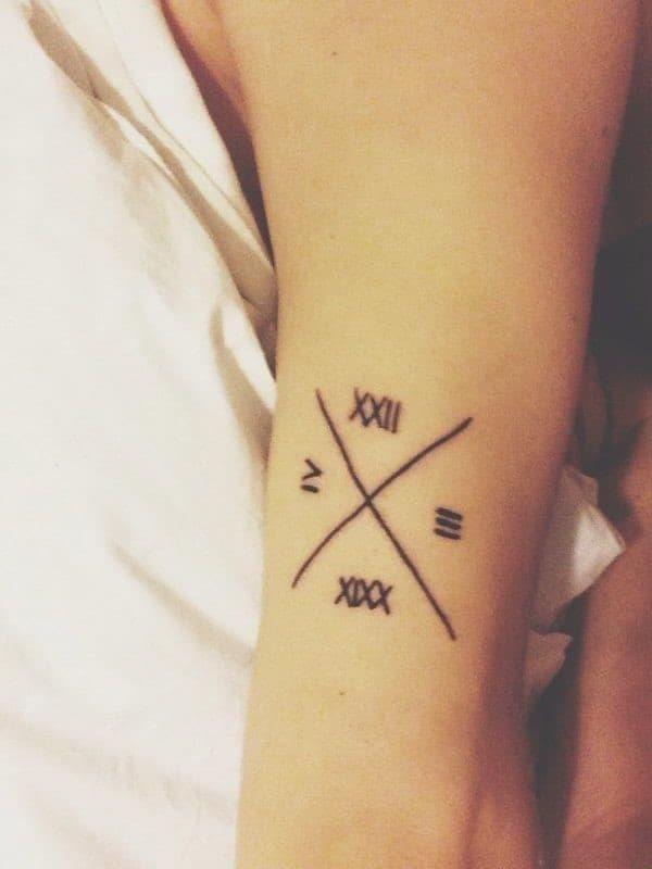 Roman numeral tattoo 018