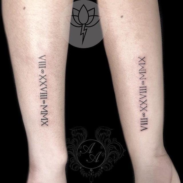 Roman numeral tattoo 15101816